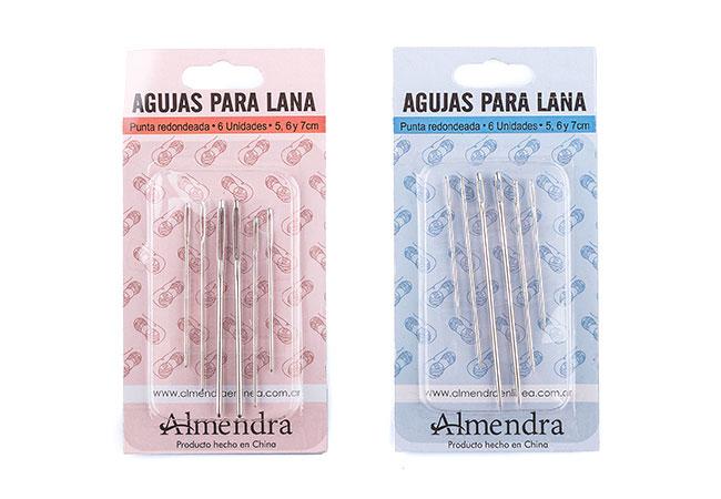 Blister Agujas Coser Lana con Punta y sin punta X 6